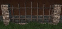 A Iron fence