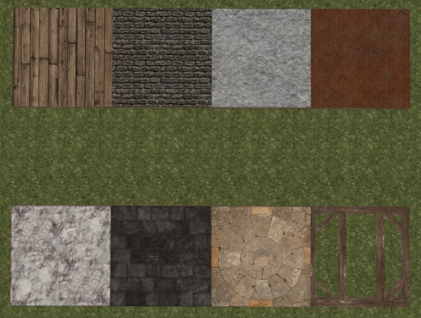 All six types of house floor styles in comparison.