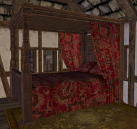 A Canopy bed