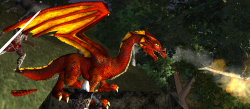 A Red dragon hatchling