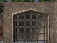 A Rendered barred wall