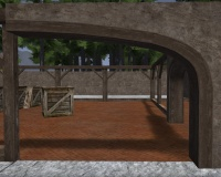 A Rendered arch right