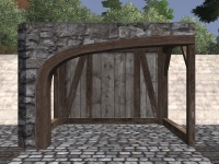 A Plain stone arch right