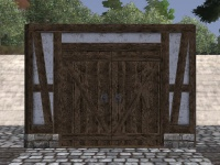 A Timber framed double door