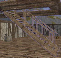 A Wooden Plank Staircase