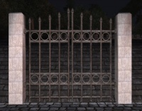 A Marble high iron fence gate