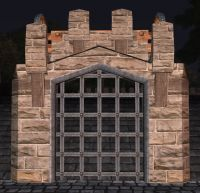 A Sandstone portcullis (fence)