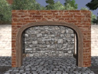 A Pottery arched wall