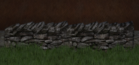 A Low stone wall